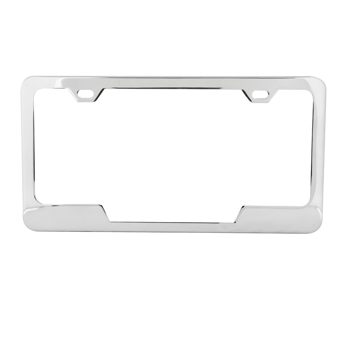 60405 Plain 2-Hole License Plate Frames with Center Cut