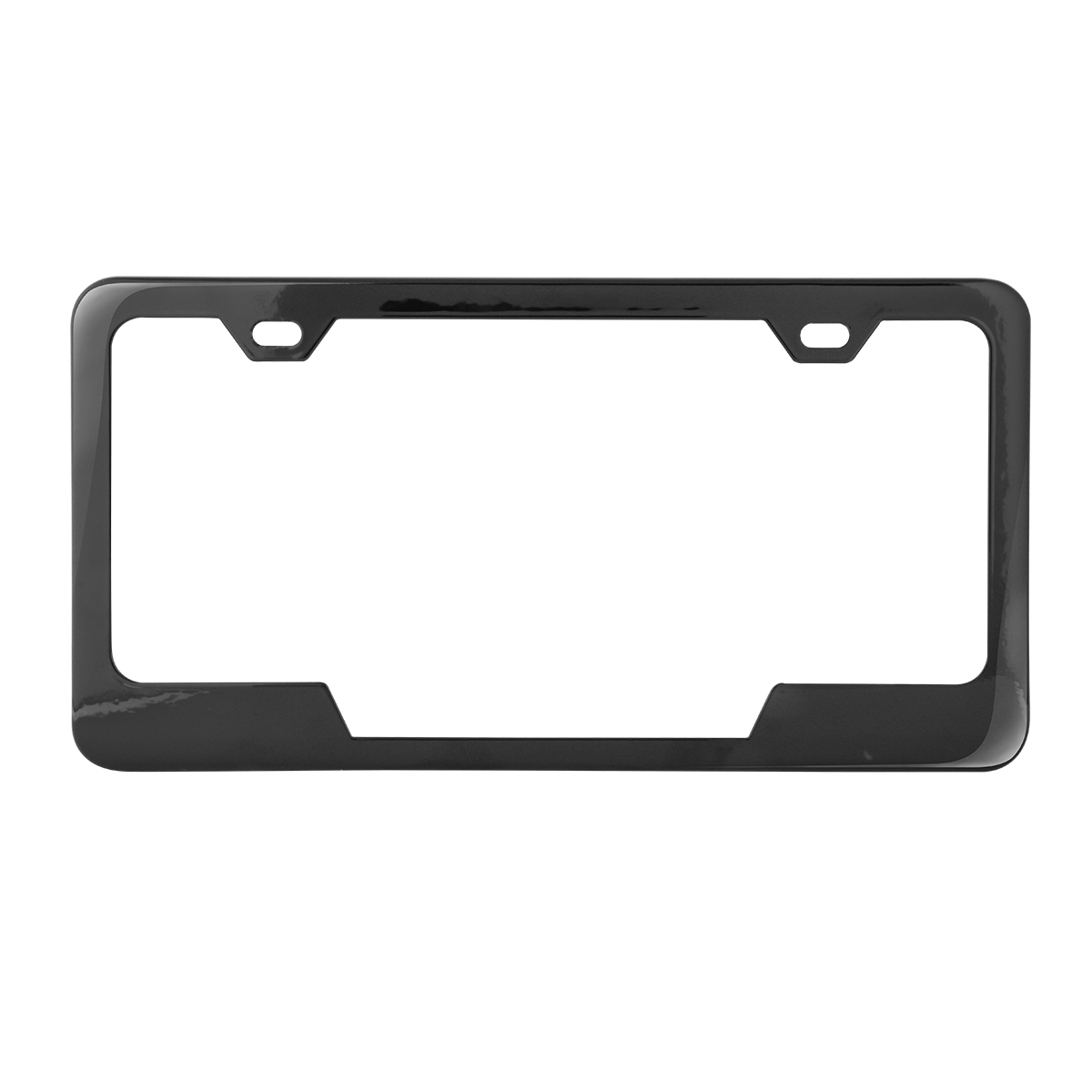 60407 Plain 2-Hole License Plate Frames with Center Cut