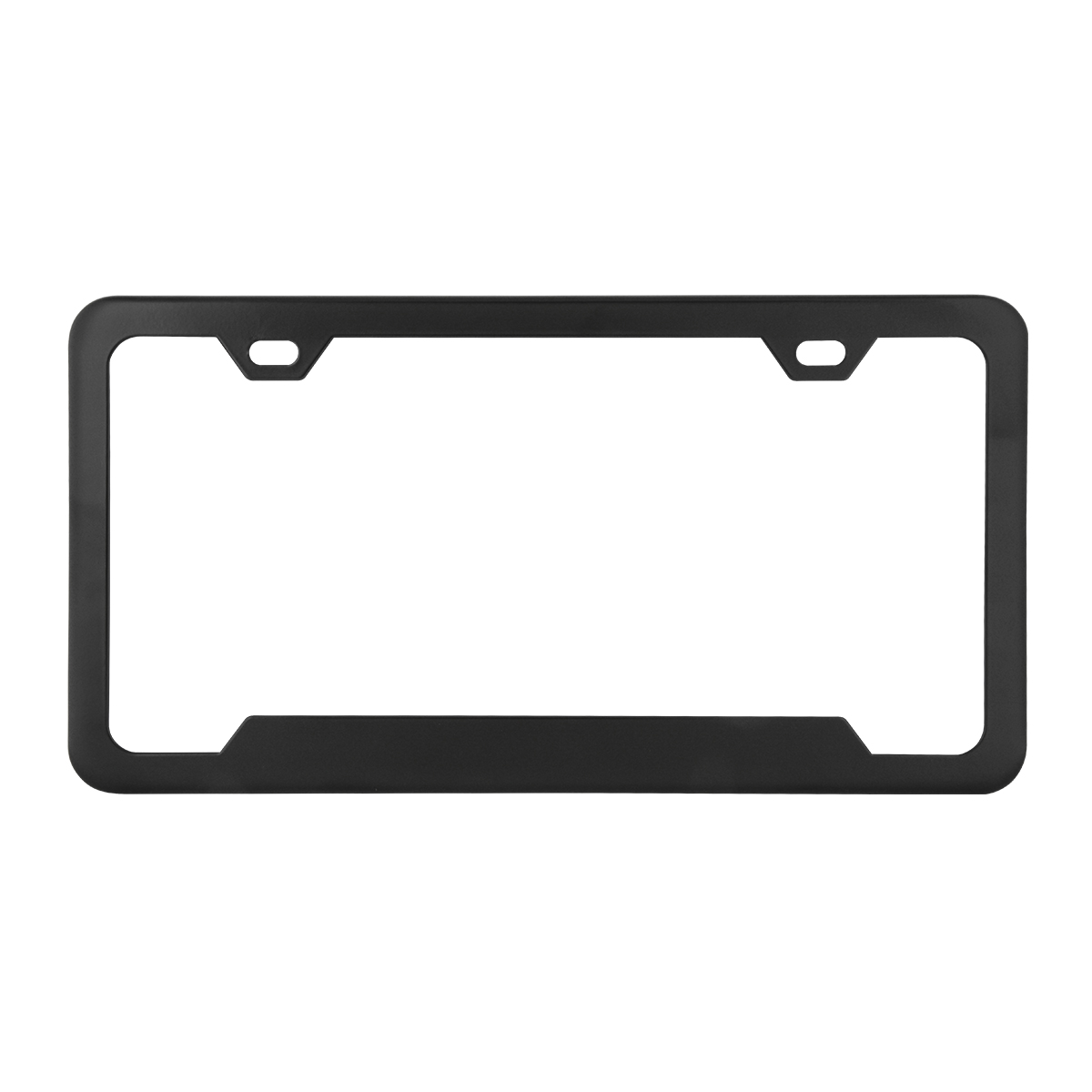 60410 Plain 2-Hole License Plate Frames with Center Raised