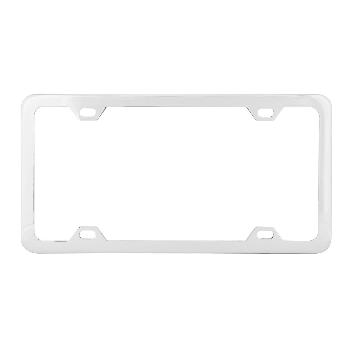 60412 Plain Chrome Plated 4 Hole License Plate Frame