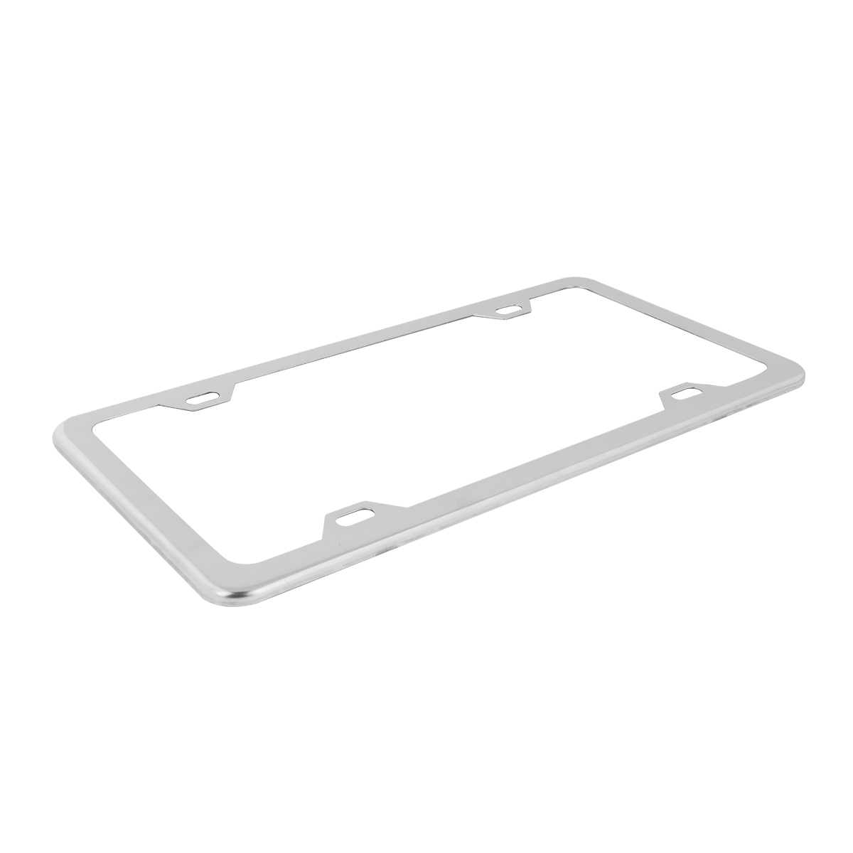 KA Depot Four Hole Slim Version Matte Flat Black License Plate Frame T304 Stainless Steel Metal Screw Caps