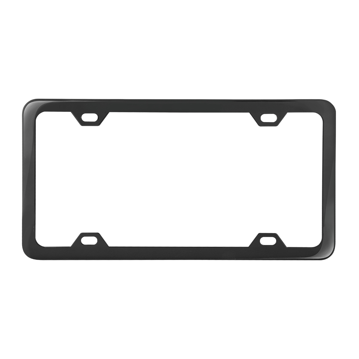 60415 Plain Semi-Gloss Black 4 Hole License Plate Frame