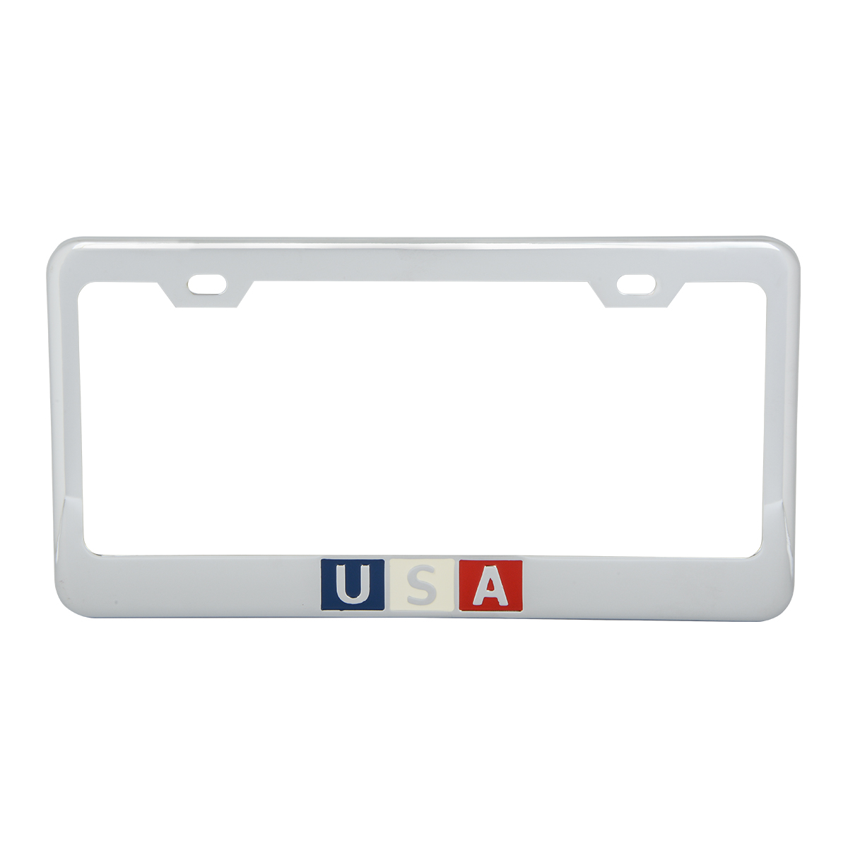 Chrome Plated Steel USA License Plate Frame