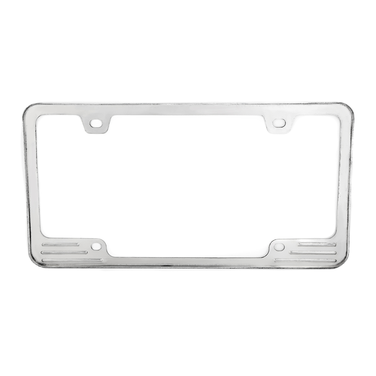 60470 Aluminum License Plate Frame with 4 Holes - Back View