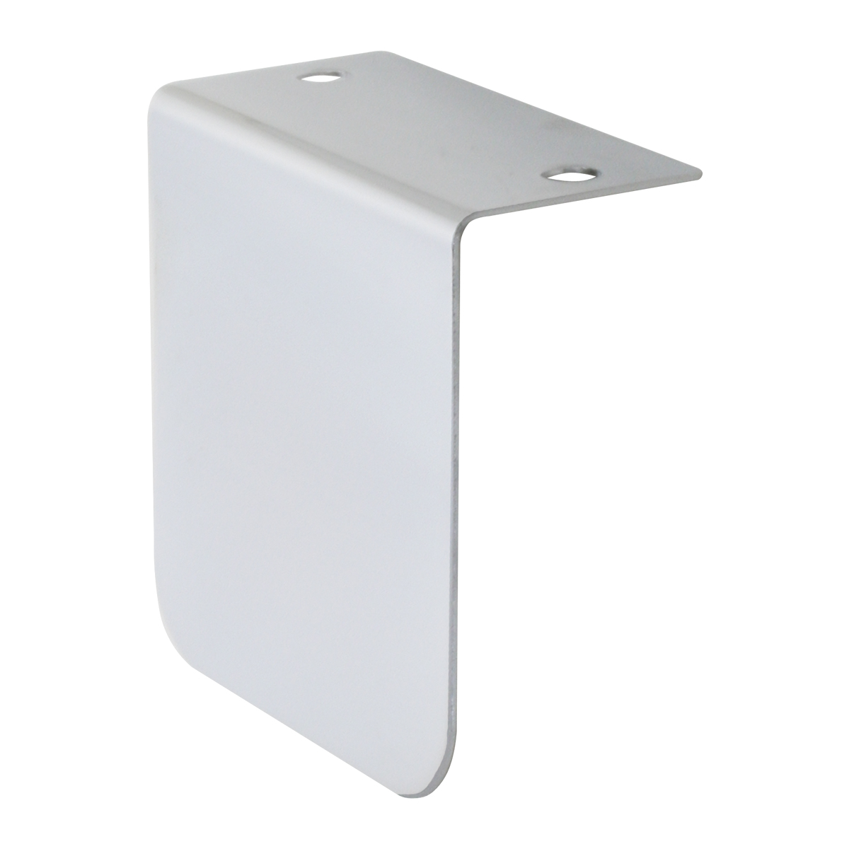 "Chrome Plated Steel Permit Sticker Holder ""L"" Bracket"