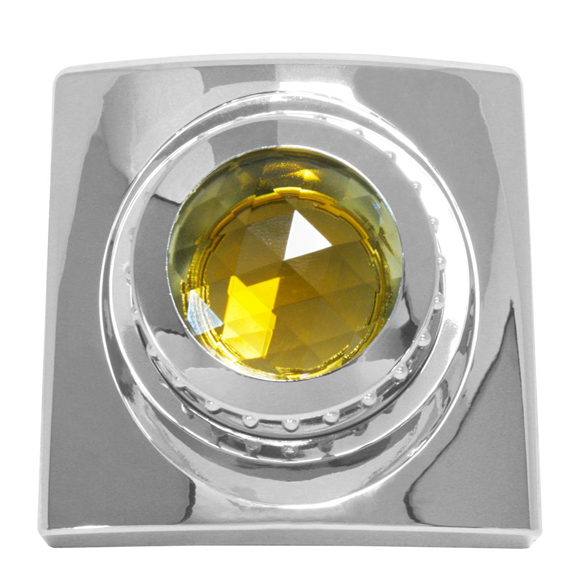 #68990 Chrome Die Cast Swivel Map Light Cover w/ Amber Glass
