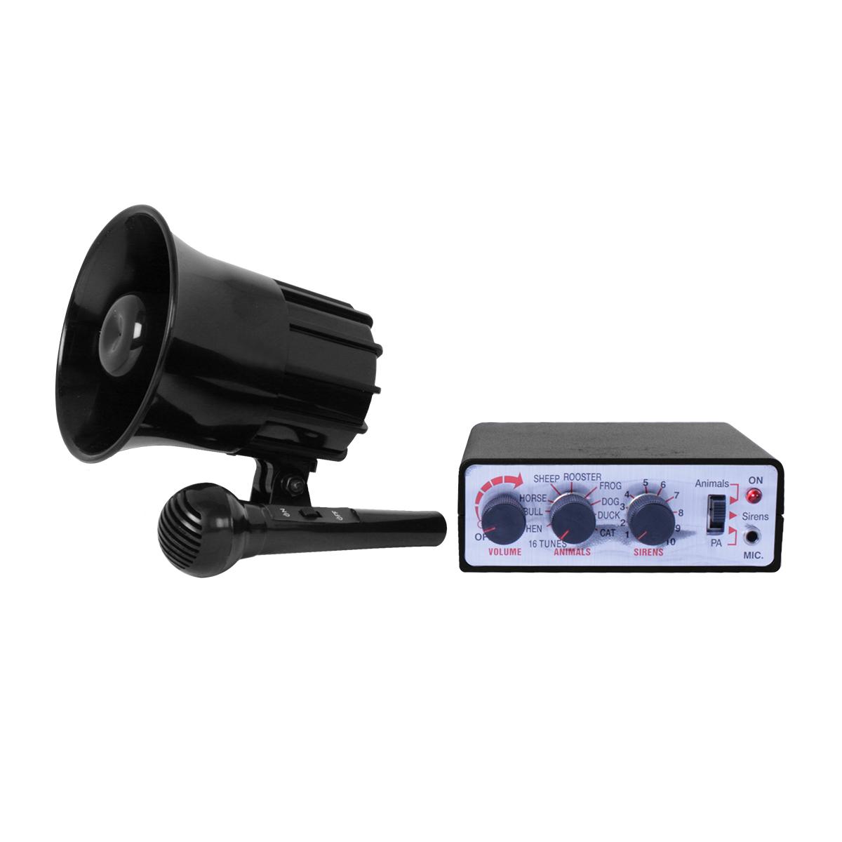 5 Sirens /& 5 Animal Sounds 12V SIREN /& PA System