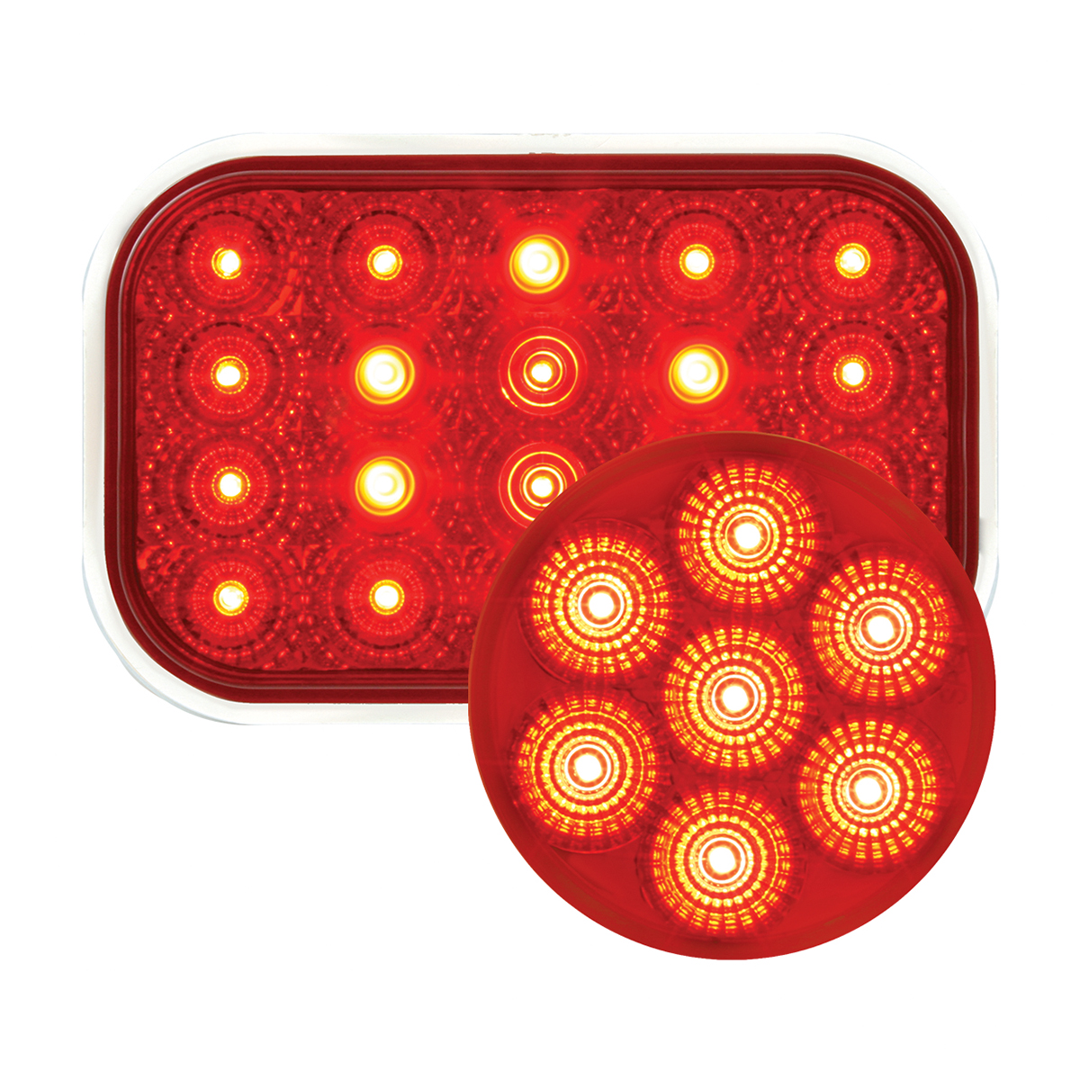 #77013/#76622 Spyder LED Flat Light - Red/Red