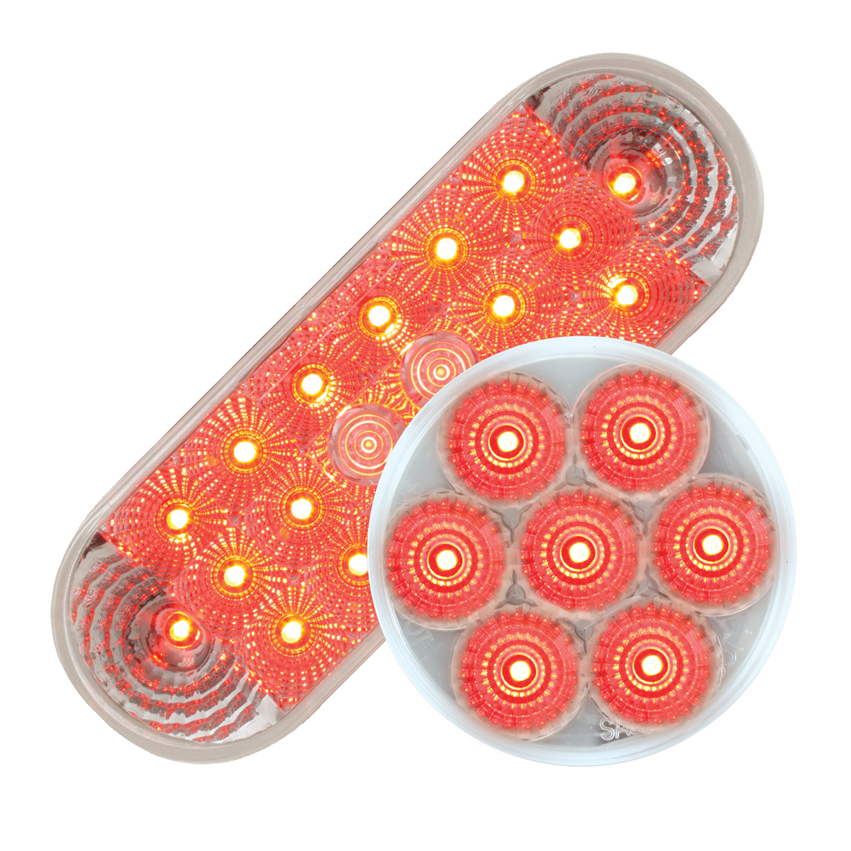 #77054/#76663 Spyder LED Flat - Red/Clear