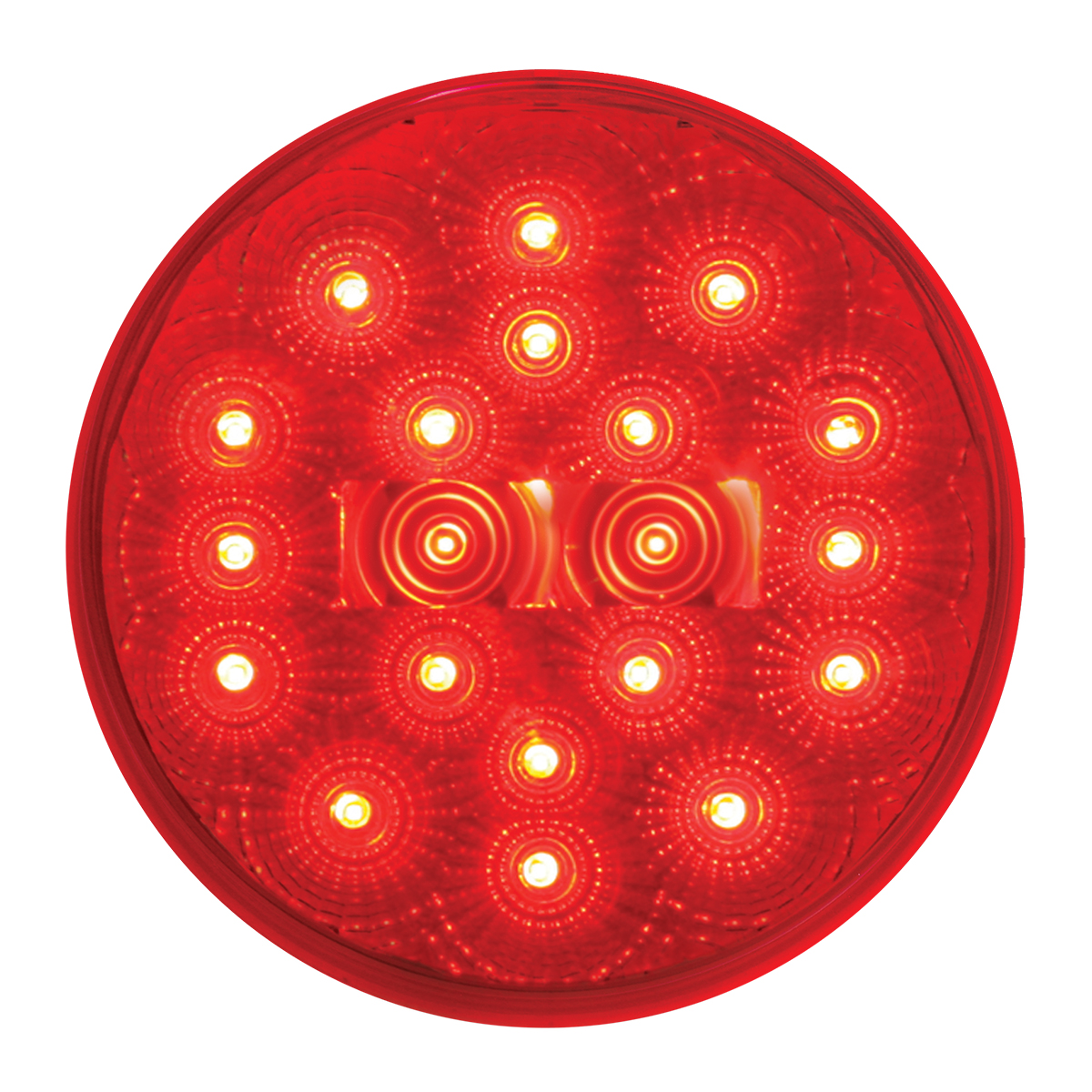 """#77093 4"""" Round Fleet LED Flat Red/Clear Light"""