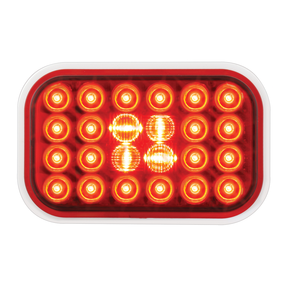 #77182 Pearl LED Flat - Red/Red