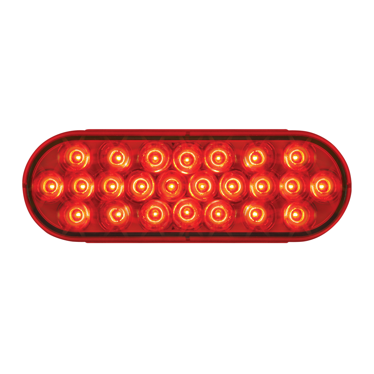 #78233 - Oval Sealed Pearl LED Flat Red/Red Light - Slanted