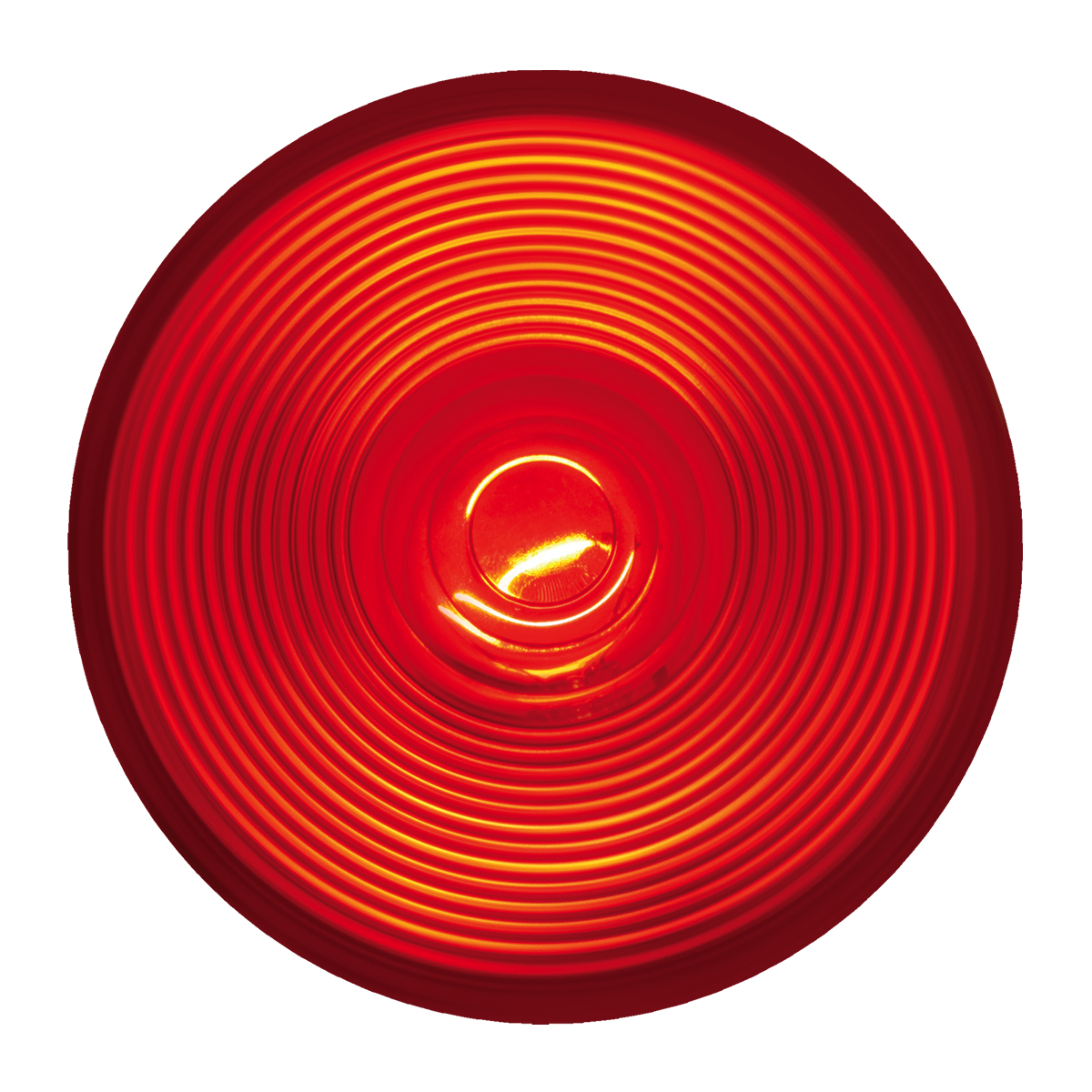 "#80471 - 4"" Round Incandescent Flat Red/Red Light"
