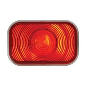 #80785 Rectangular Incandescent Flat Red/Red Light