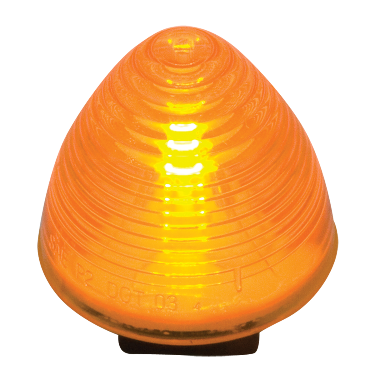 "#80942 2"" Sealed Incandescent Beehive Amber/Amber Light"