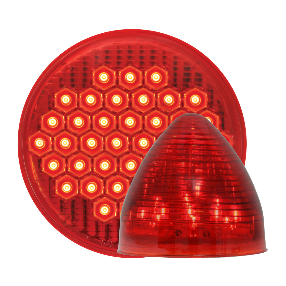 #87700/#79301 High Count LED Beehive - Red/Red