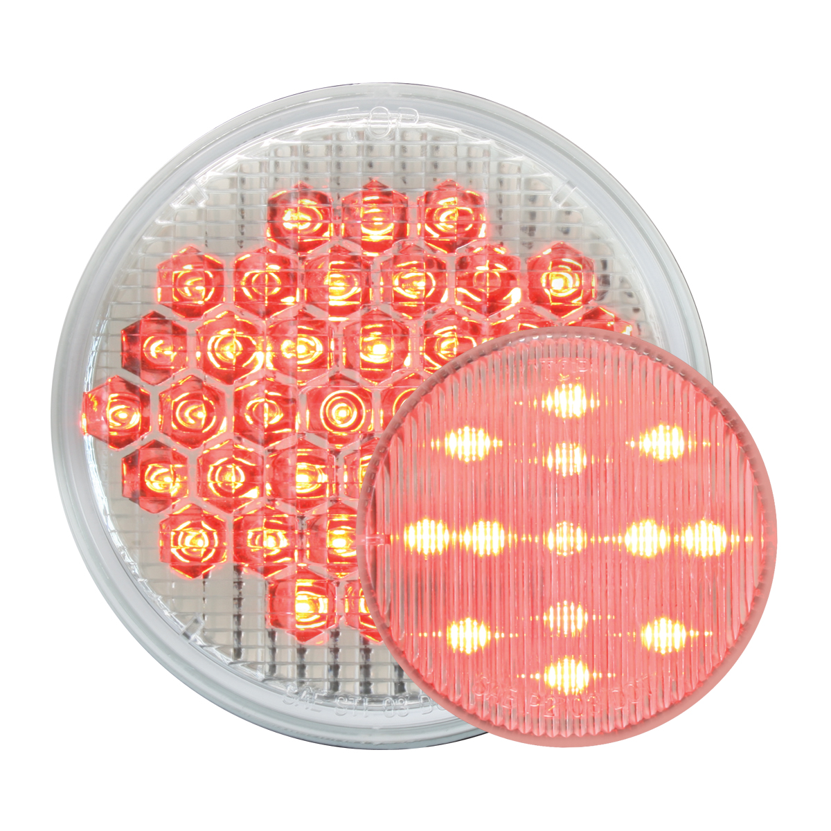 #87706/#79318 High Count LED Red/Clear - Flat