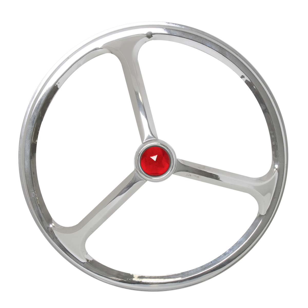 #90881/#90891 Chrome Plated Lucas Style Headlight Cover with Red Dot