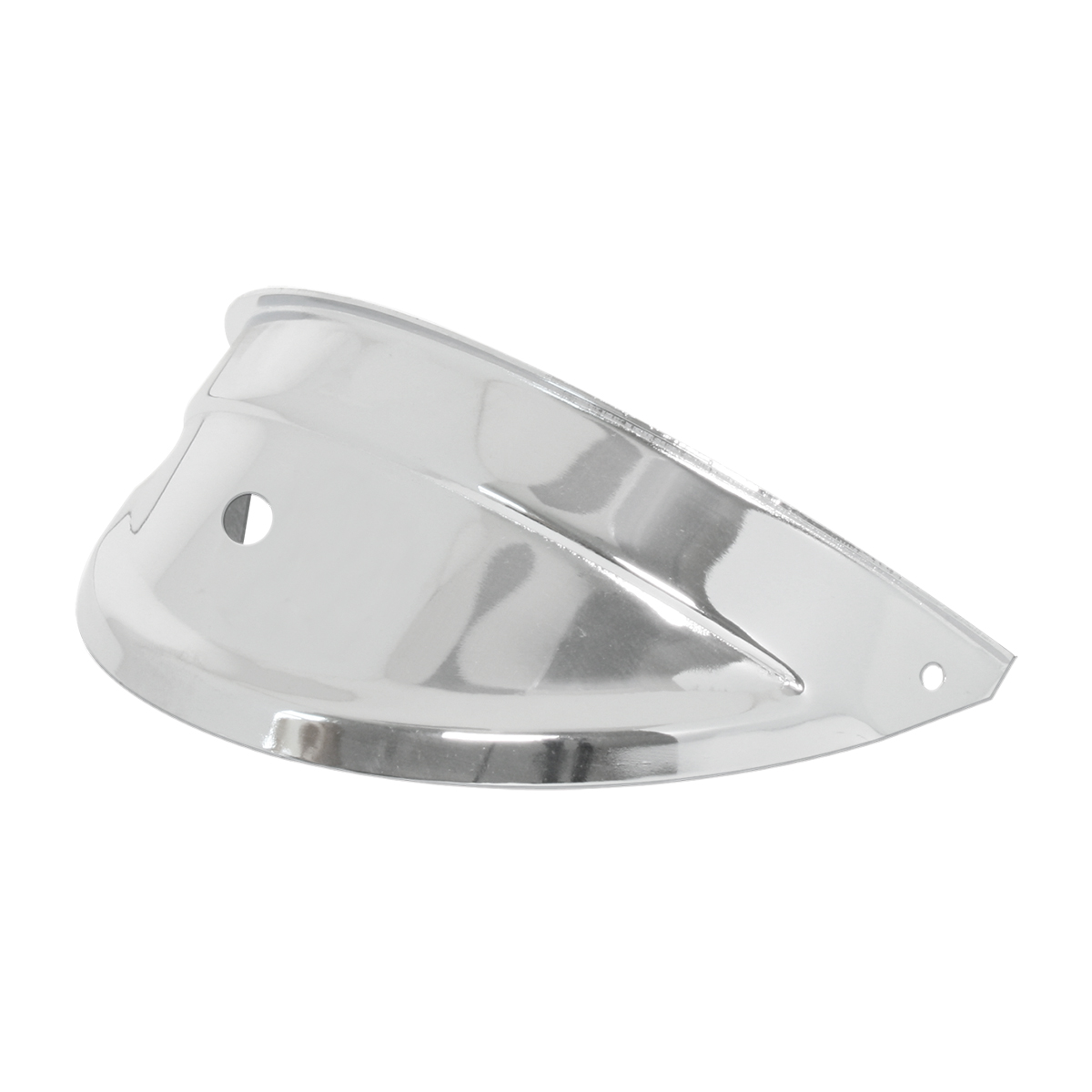 "#92471 7"" Chrome Plated Steel Headlight Visors with ¹⁵∕₁₆"" Hole in Center"