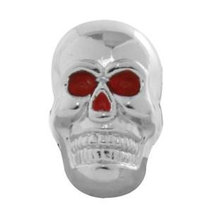 #93750 Chrome Plated Red Eye Skull w/o Bones Dash Knob