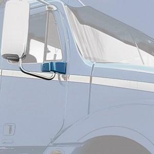 67813 Chrome Plastic Exterior Door Mirror Bracket Cover (Passenger Side) for FL Century/Columbia/Coronado