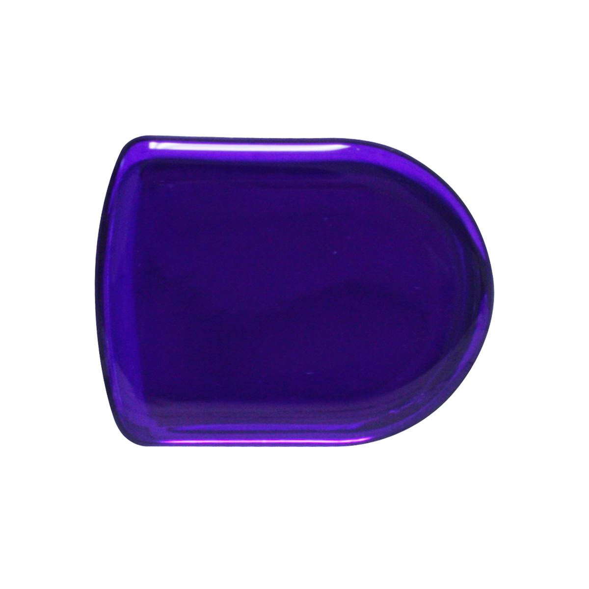 93124 Plain Purple D-Shape Glossy Sticker