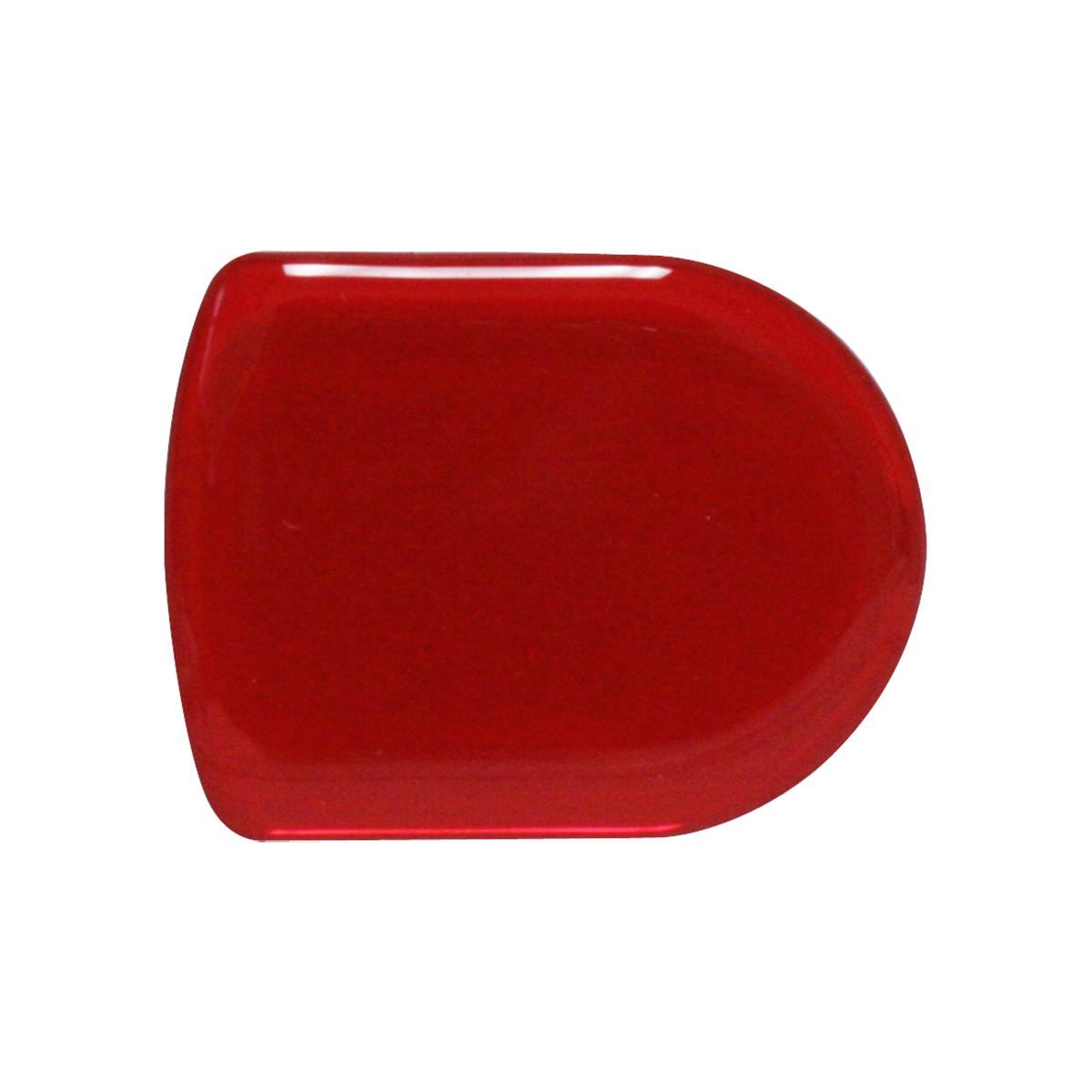 93125 Plain Red D-Shape Glossy Sticker