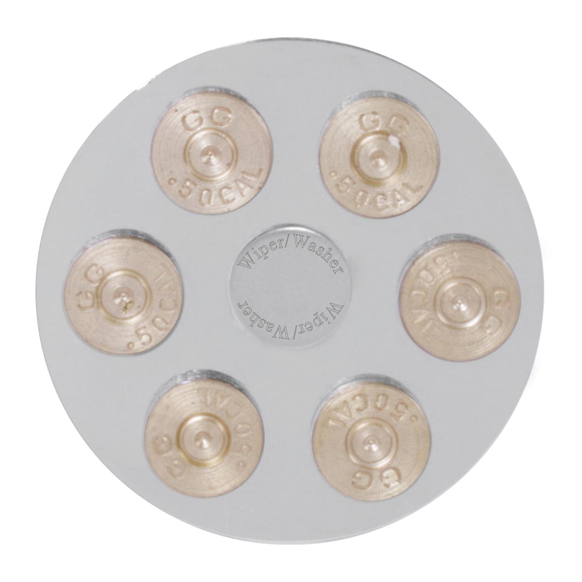 95613 Gun Cylinder Dashboard Control Knob w/ Wiper/Washer Script