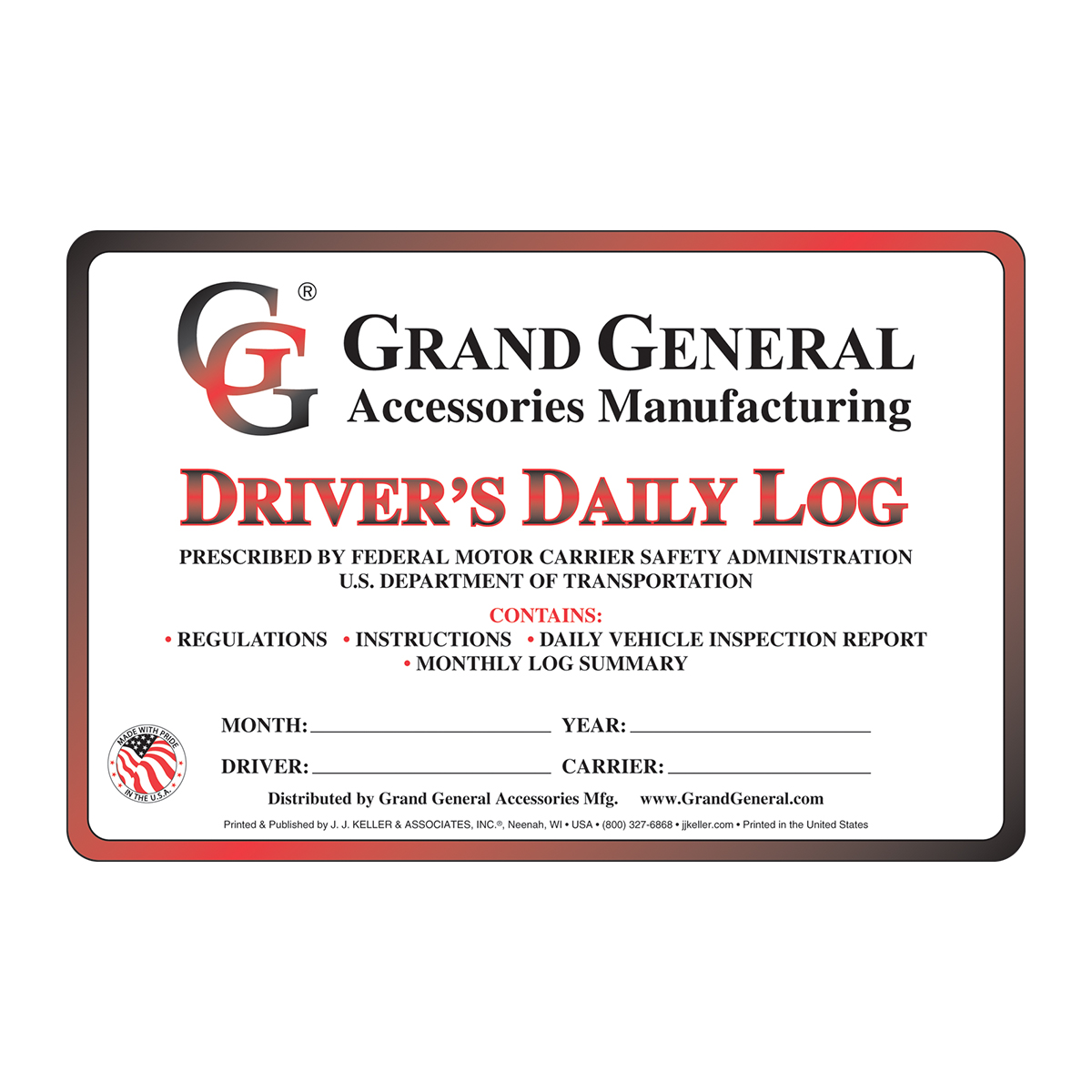 99900 Driver Daily Log with Simplified DVIR