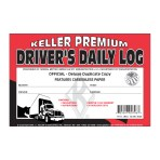 Driver's Daily Log with No DVIR – Book A Format with Recap