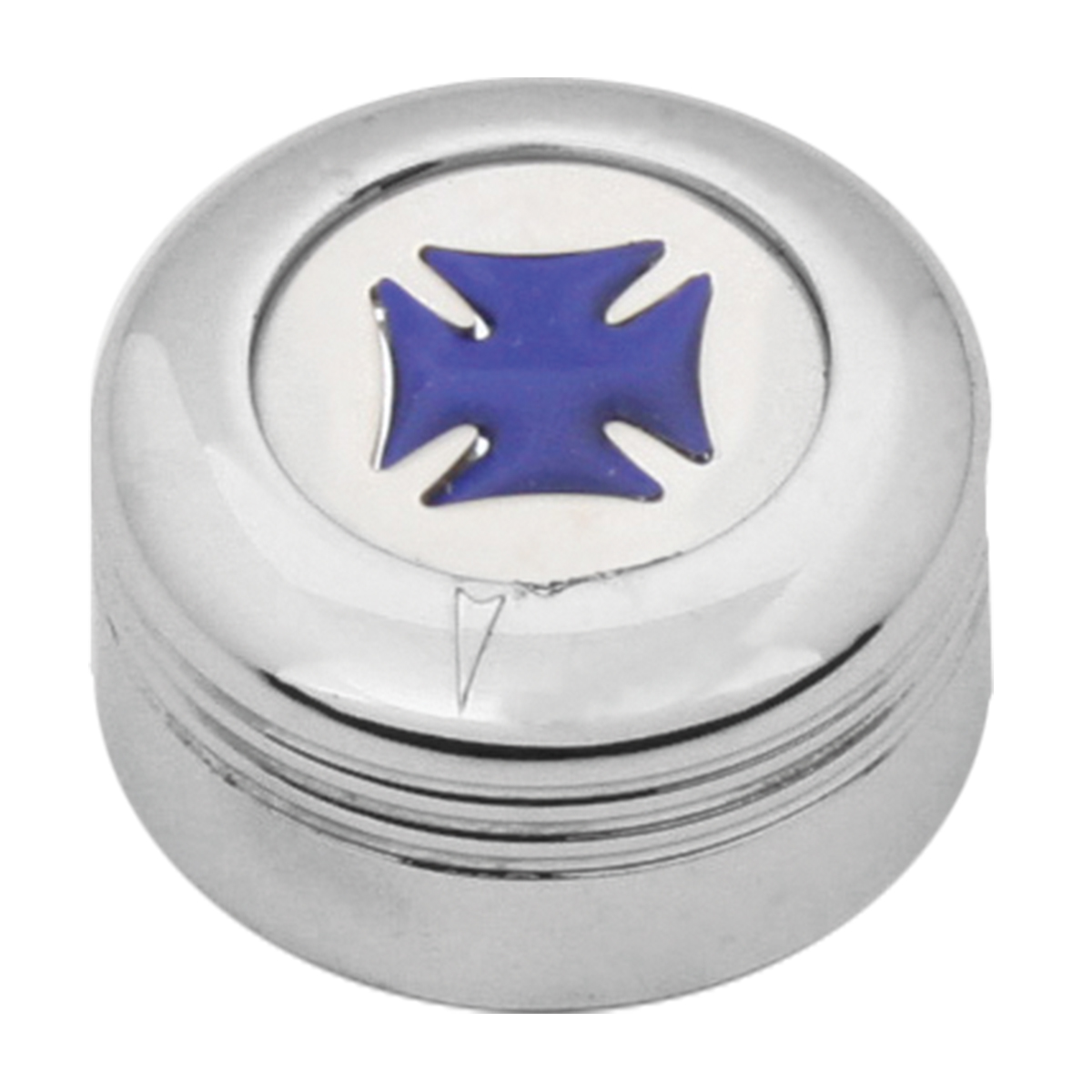 Chrome Plastic A/C Knob w/ Blue Iron Cross for Pete