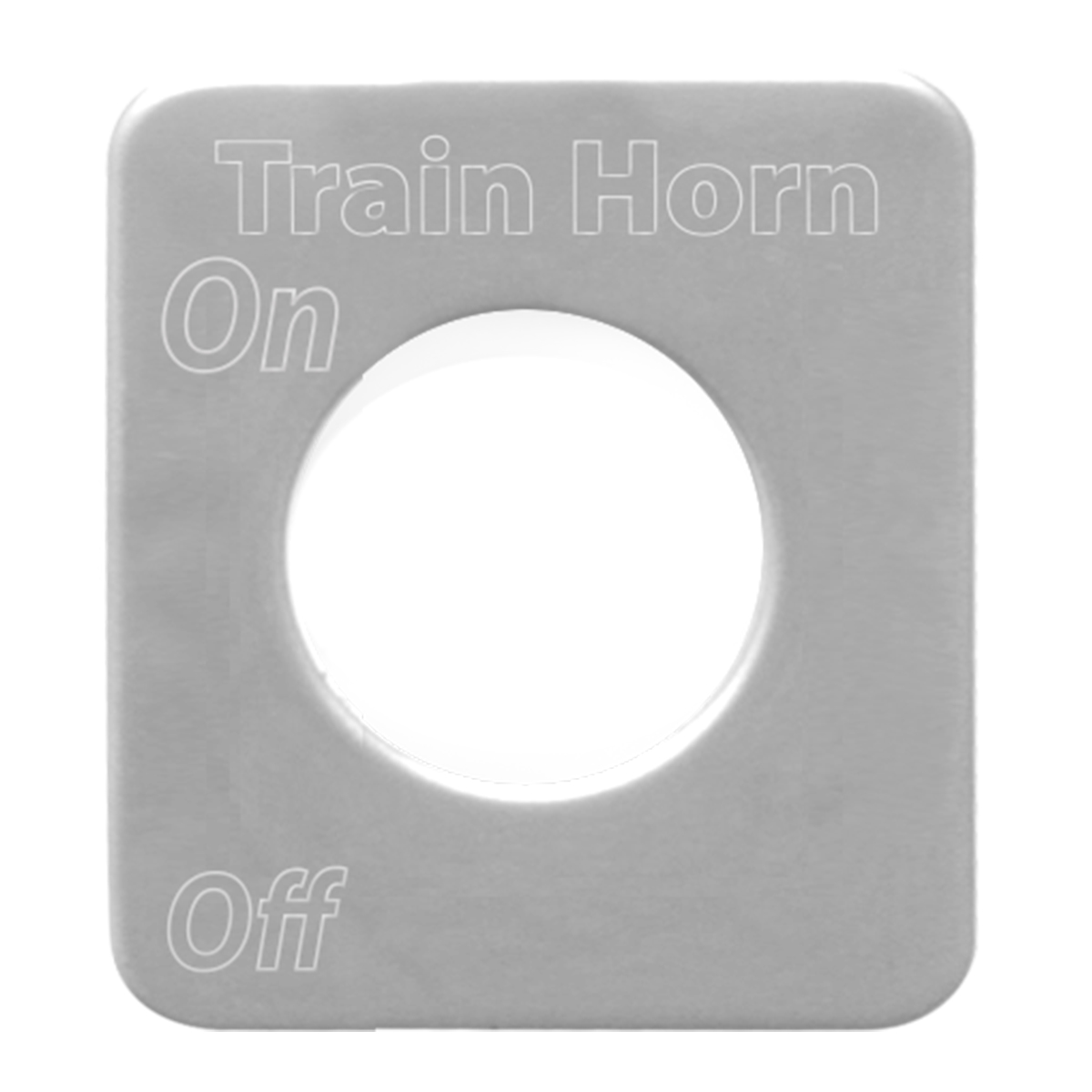 68523 Stainless Steel Train Horn Switch Plate for KW