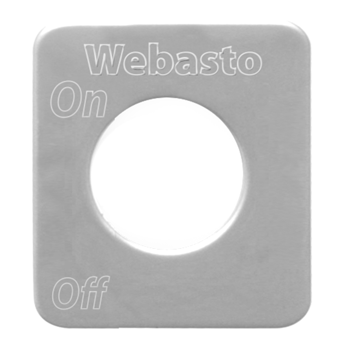 68525 Stainless Steel Webasto Engine Heater Switch Plate for KW