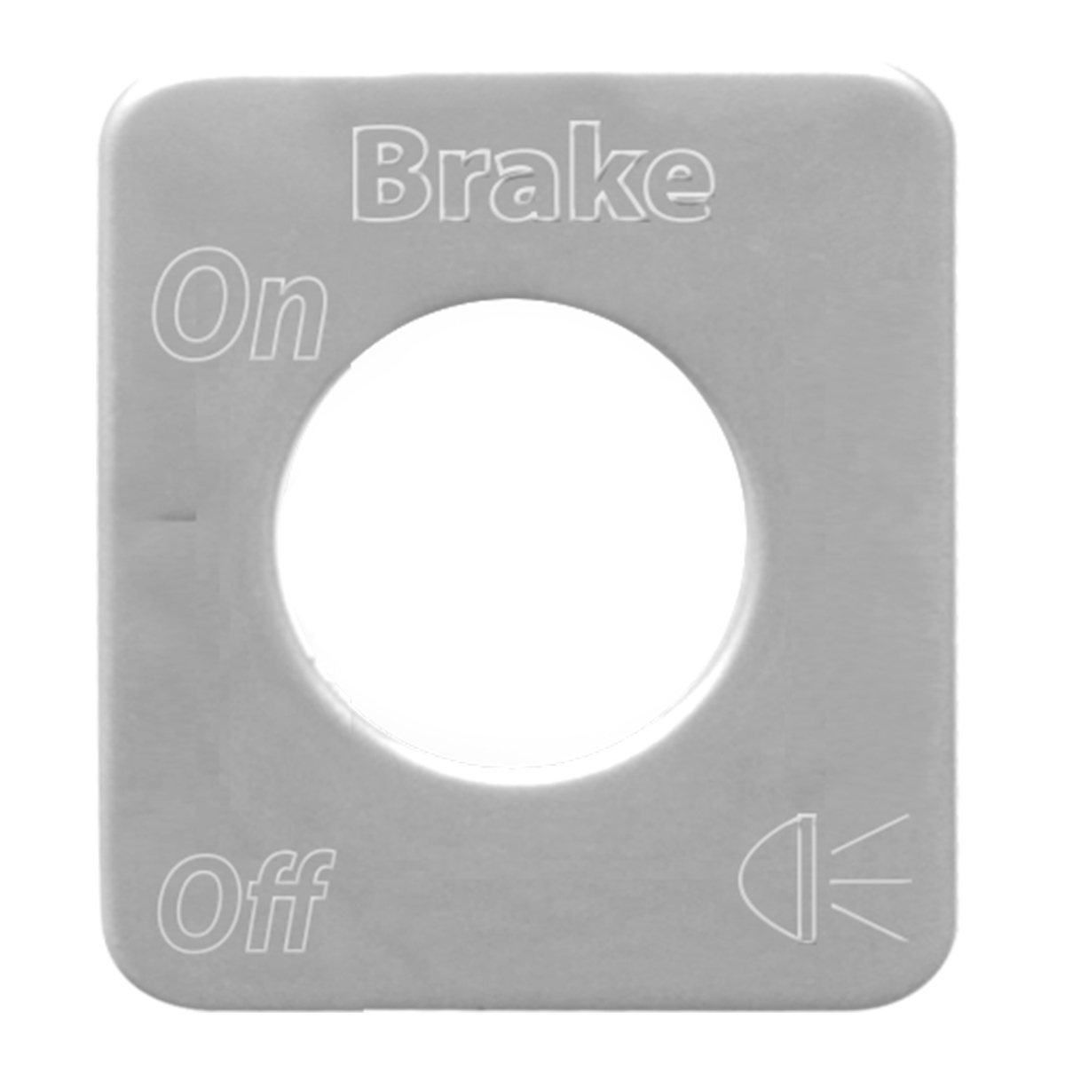 68527 Stainless Steel Brake Light Switch Plate for KW