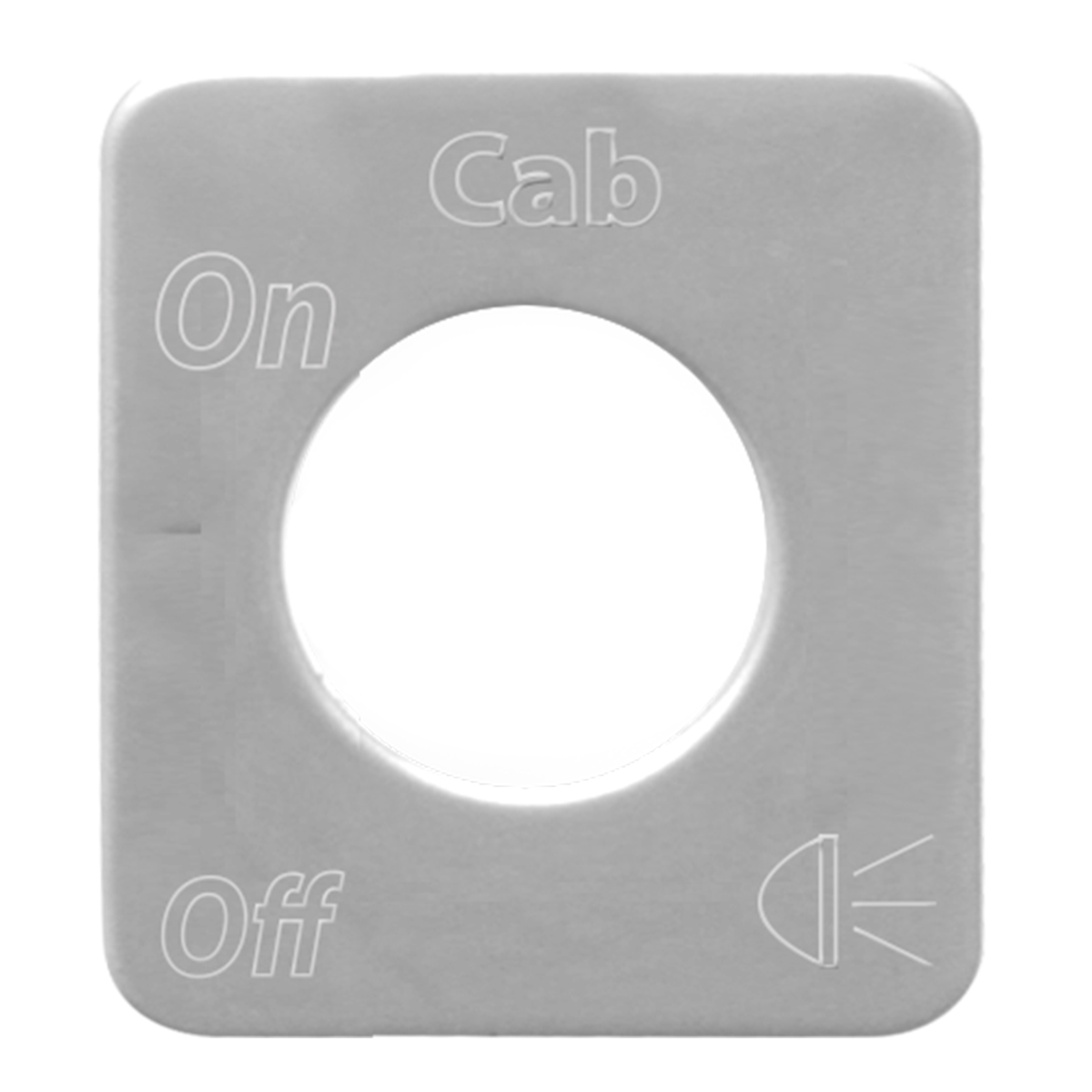 68528 Stainless Steel Cab Light Switch Plate for KW