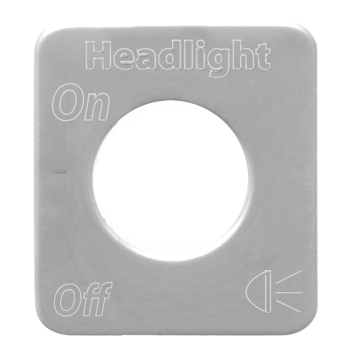 68542 Stainless Steel Headlight Switch Plate for KW