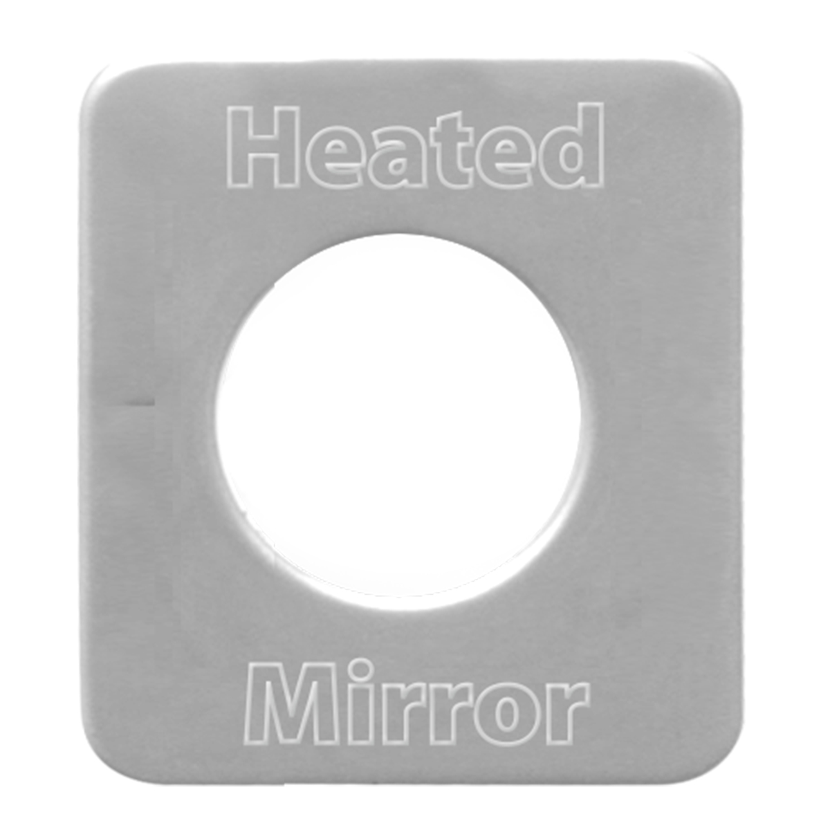 68584 Stainless Steel Mirror Heat Switch Plate for KW