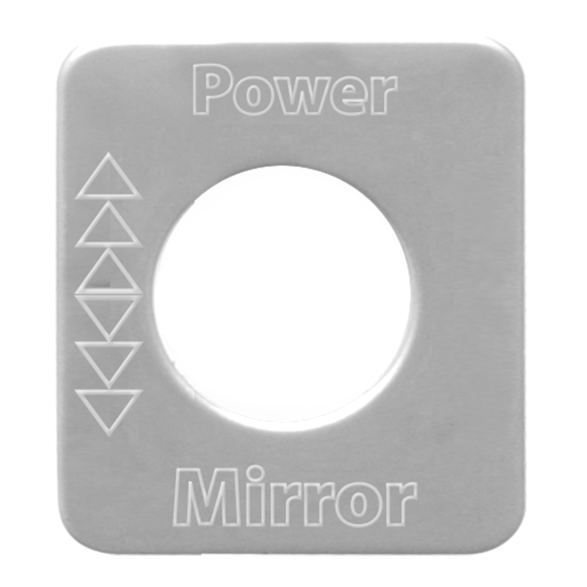 68587 Stainless Steel Panel Light Switch Plate for KW