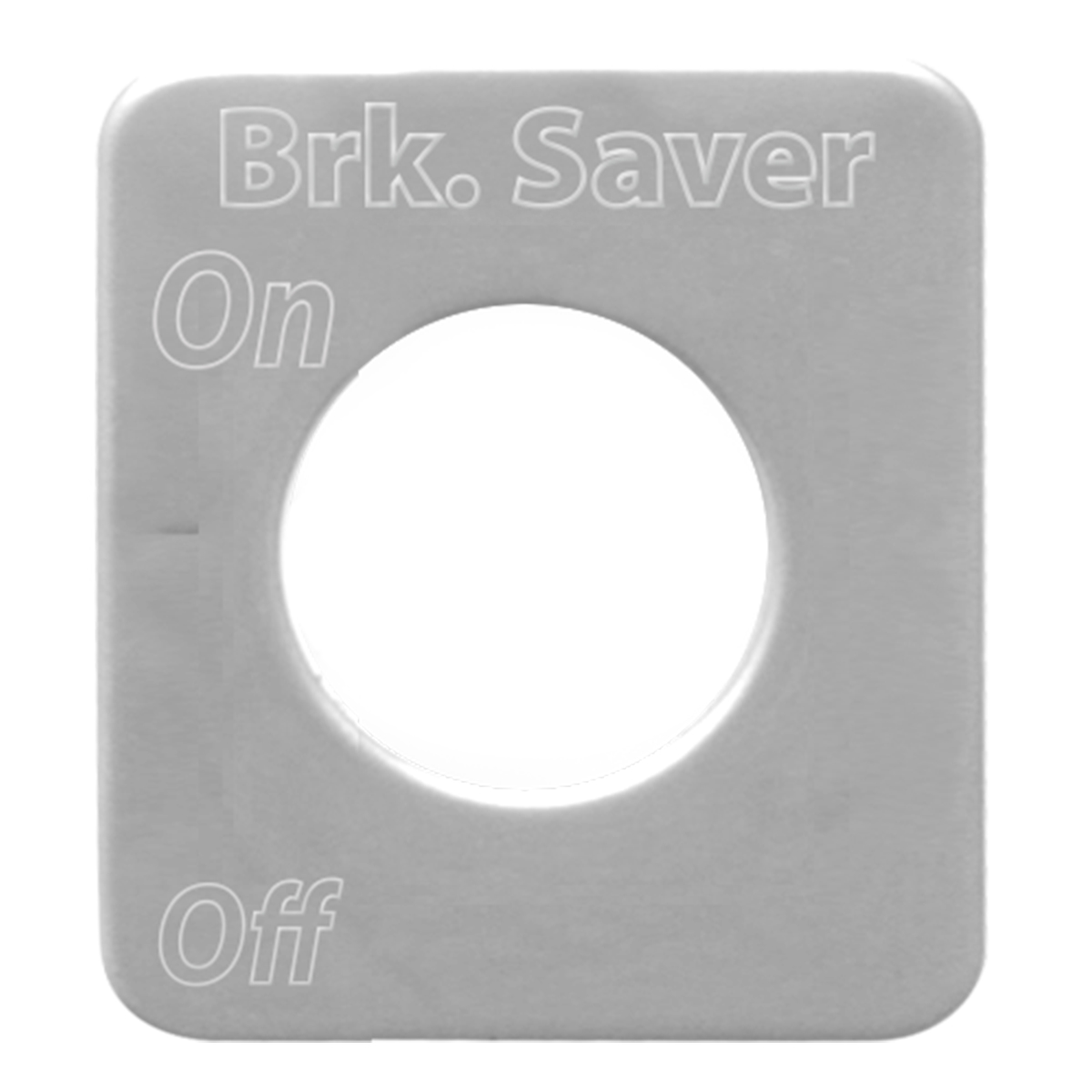 68605 Stainless Steel Brake Saver Switch Plate for KW