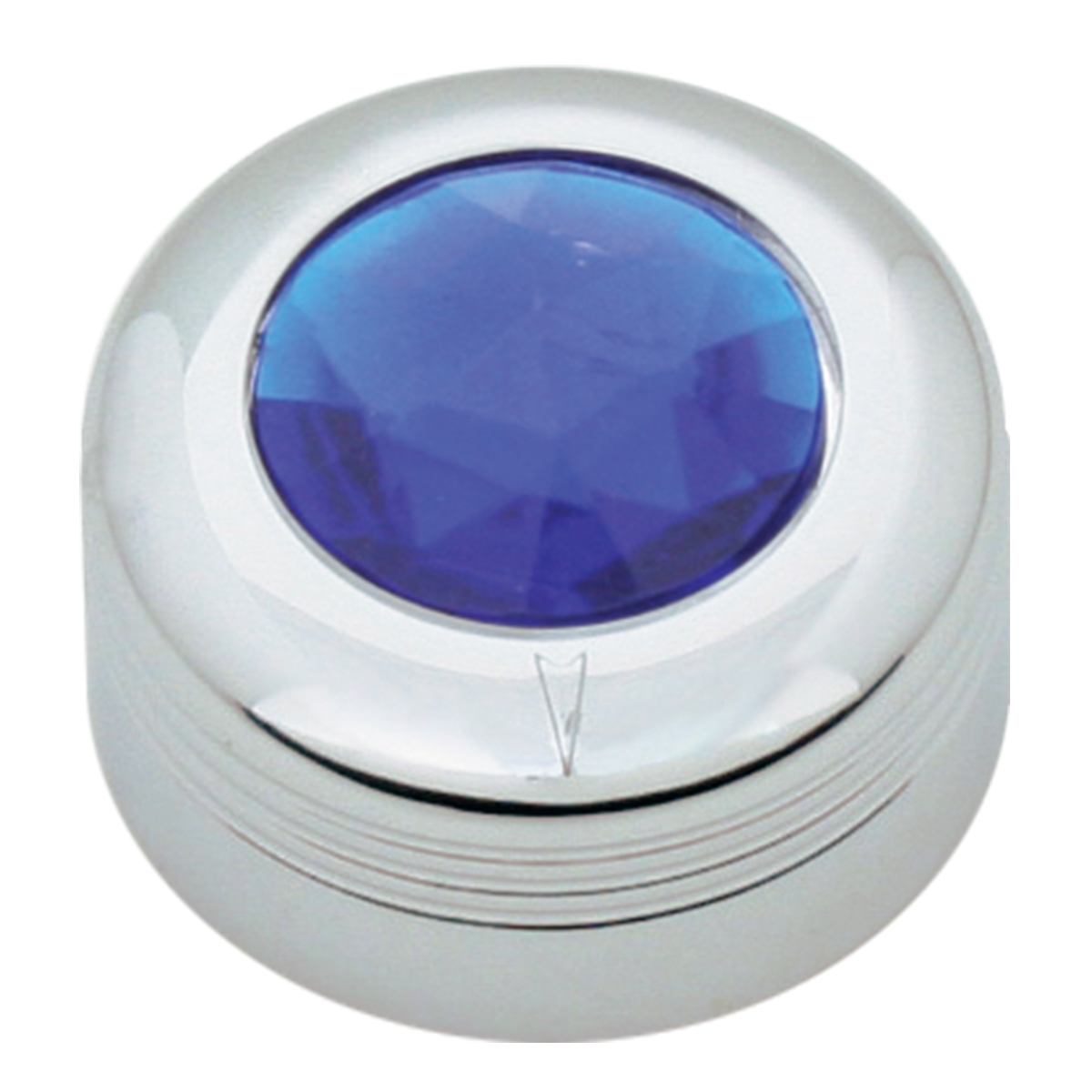 Chrome Plastic A/C Knob w/ Blue Plastic Crystal for Pete