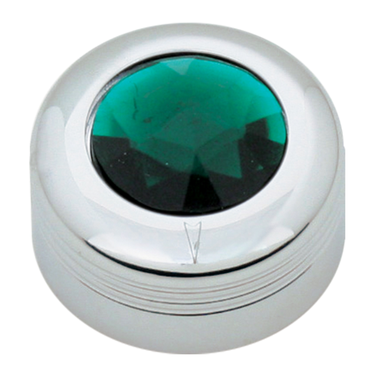 Chrome Plastic A/C Knob w/ Green Plastic Crystal for Pete