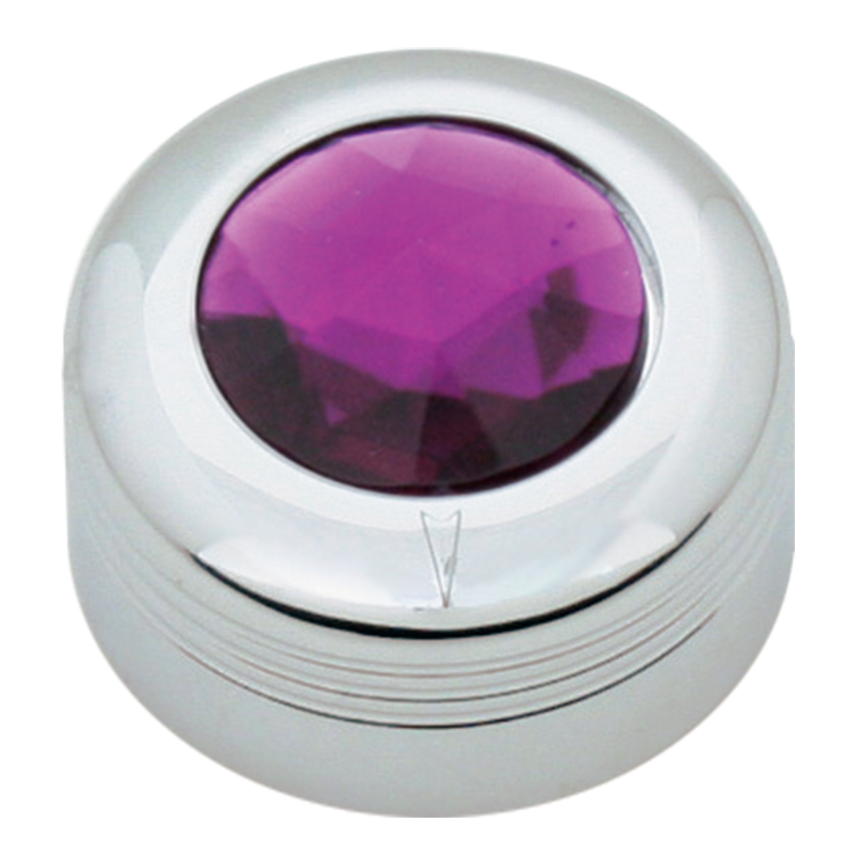 Chrome Plastic A/C Knob w/ Purple Plastic Crystal for Pete