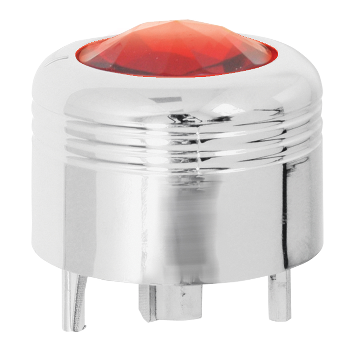 69045 Chrome Plastic A/C Knob w/ Red Plastic Crystal for Pete