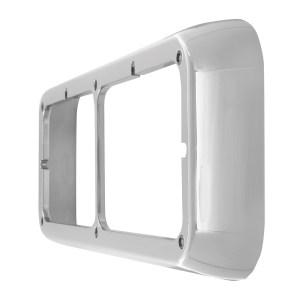 87591 Chrome Plastic Dual Rectangular Headlight Bezel