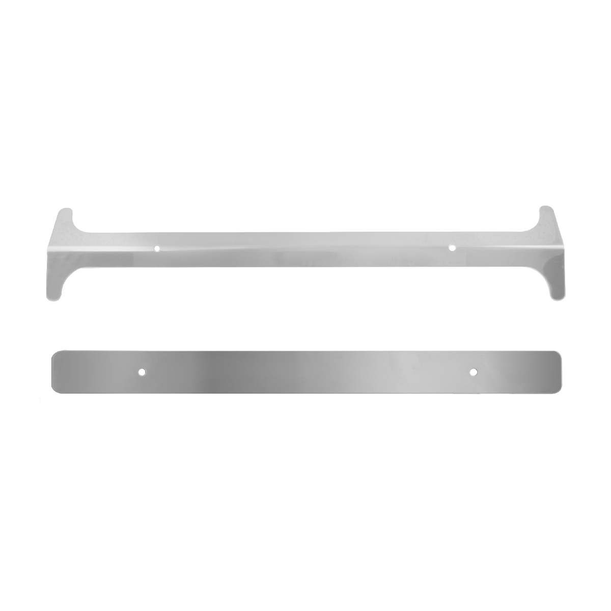 97150 Pete Stainless Steel Windshield Post Cover