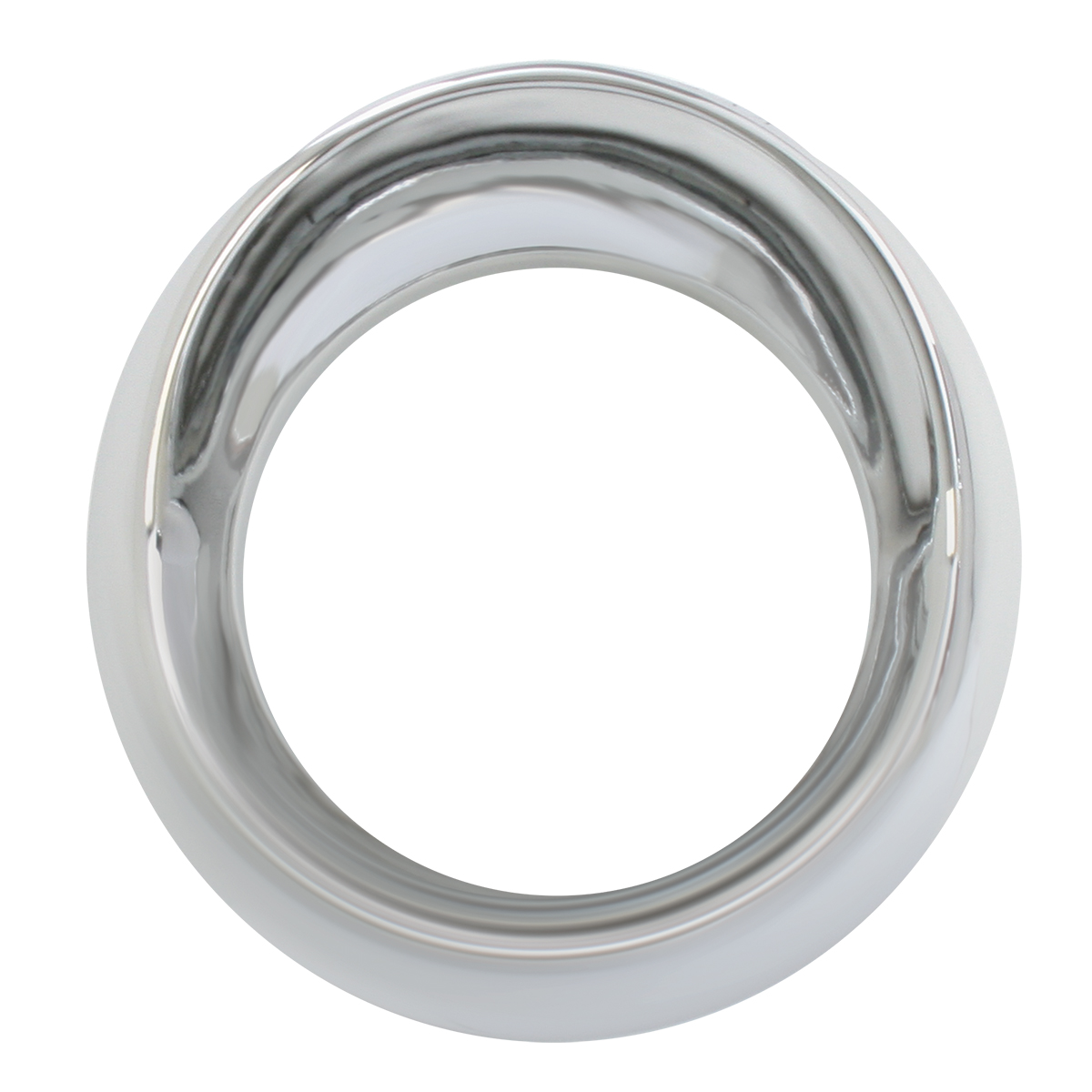 68223 Chrome Plastic Small Snap-On Gauge Cover w/ Visor for KW