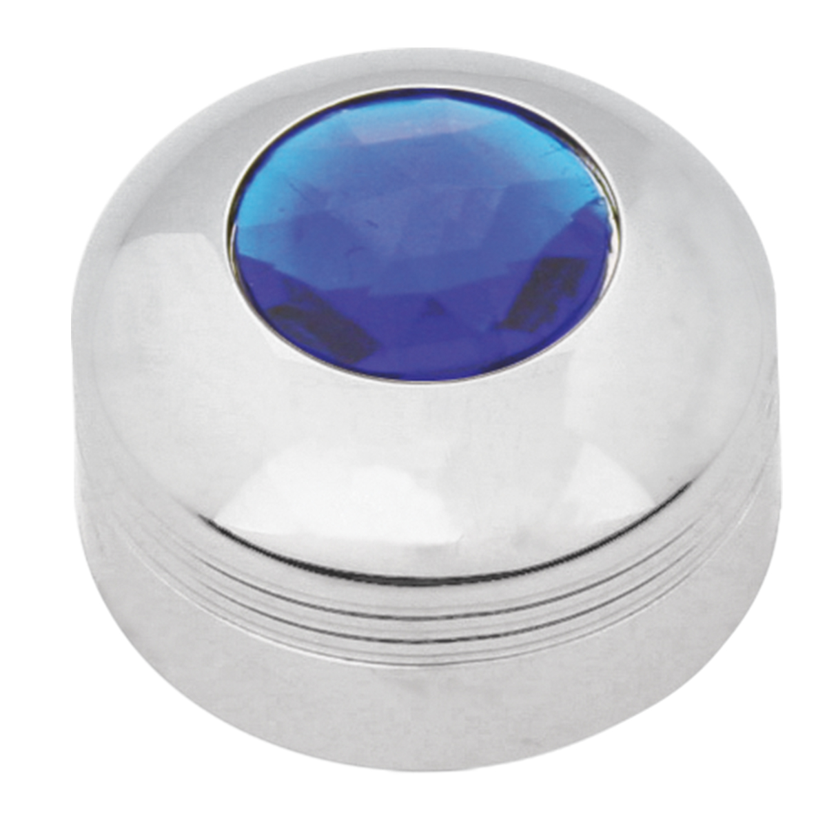 69051 Chrome Plastic A/C Know with Blue Plastic Jewel for KW