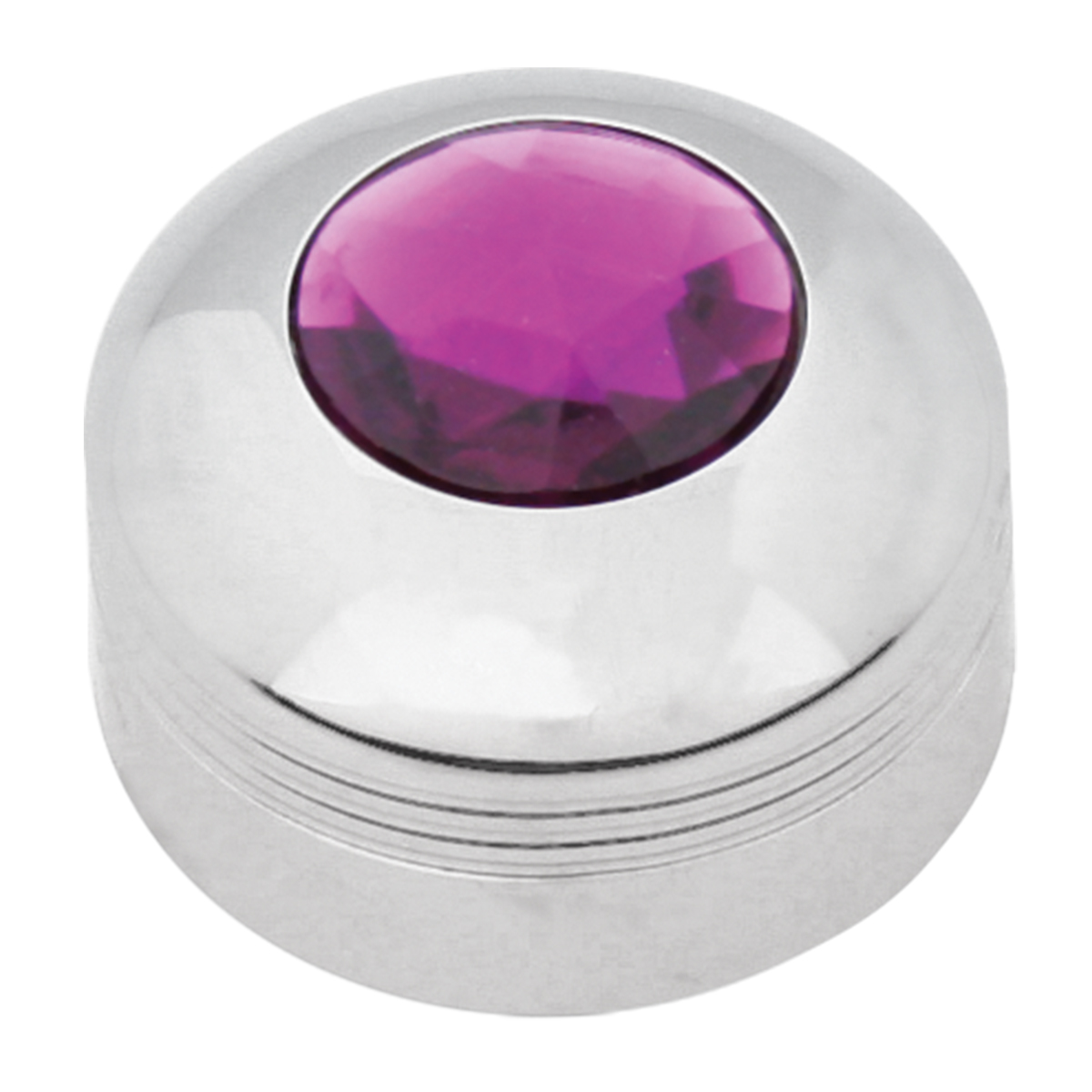 69054 Chrome Plastic A/C Know with Purple Plastic Jewel for KW