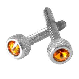 Dash Screws with Crystal on Top for International