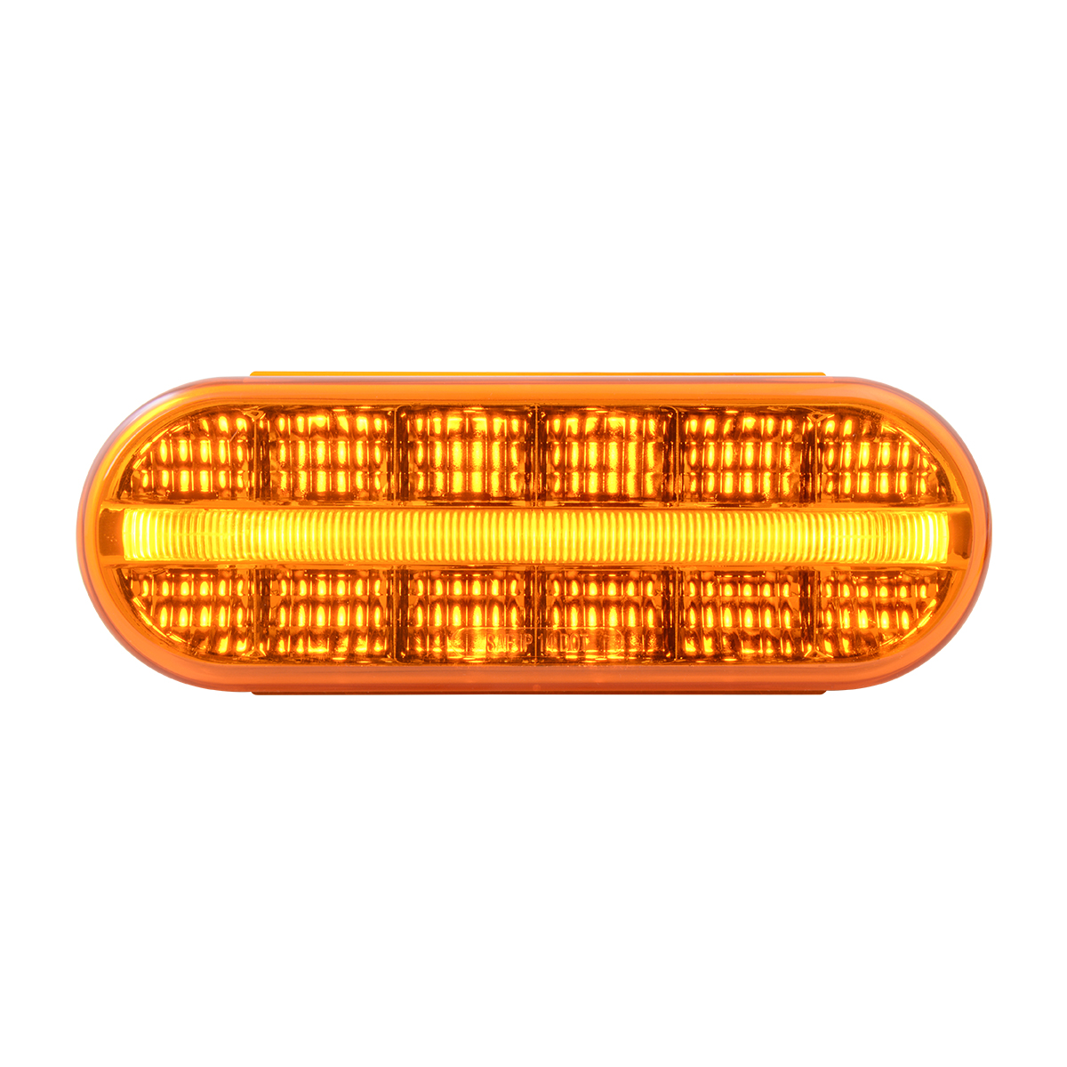 74850 Oval Prime Spyder LED Light in Amber/Amber